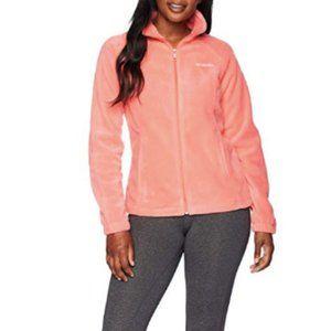 Columbia Pink Benton Springs Fleece Jacket Medium